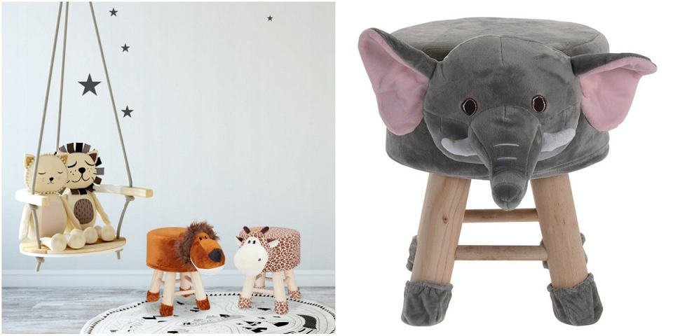Taborety dziecięce z motywem zwierząt