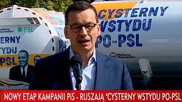 'Cysterny wstydu PO-PSL' nowym etapem kampanii PiS