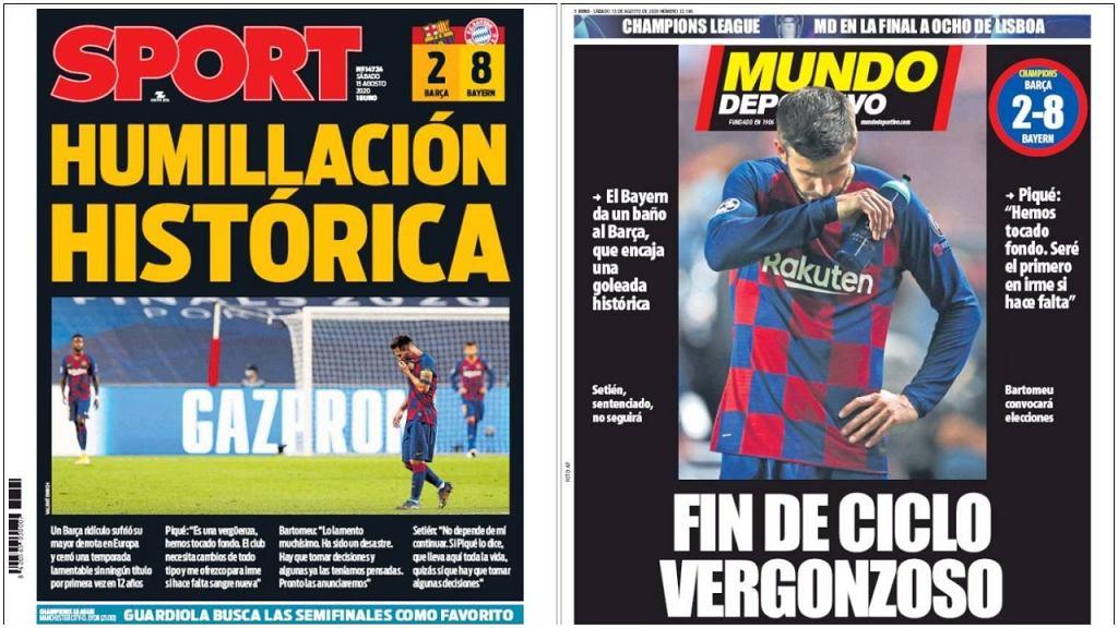 Hiszpańskie media po porażce Barcelony w Lidze Mistrzów
