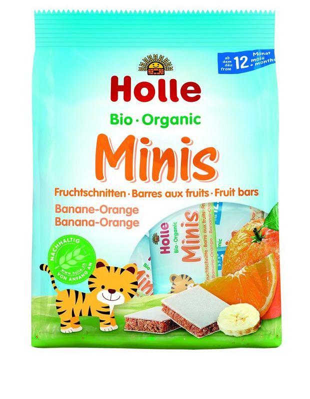 Naturalne BIO Batoniki owocowe Minis bananowo-pomarańczowe od HOLLE