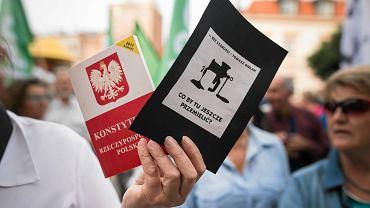 Lublin. Protest w obronie Sądu Najwyższego
