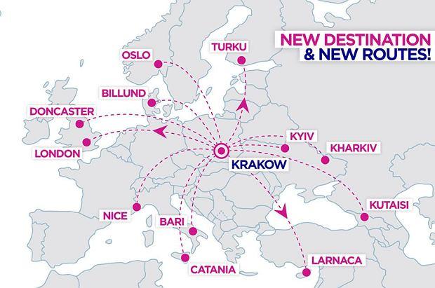 Wizz Air już w kwietniu zacznie latać z lotniska w Krakowie