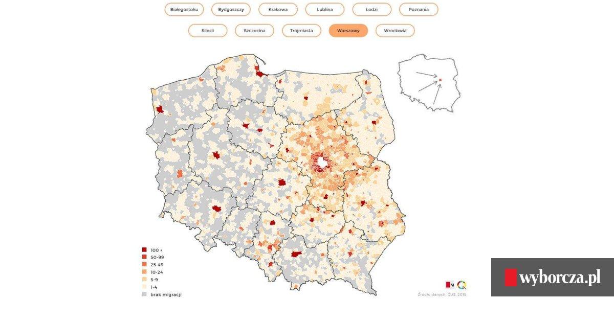 Polska Mapa Przeprowadzek Skad Jest Twoj Nowy Sasiad I Dokad