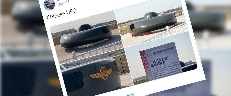Chińczycy pokazali futurystyczny helikopter. Wyglądem przypomina UFO