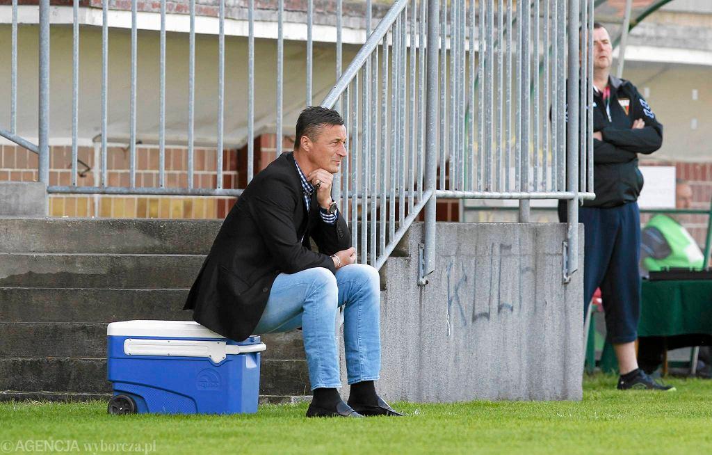 Tomasz Hajto w meczu GKS Tychy - GKS Katowice 0:3
