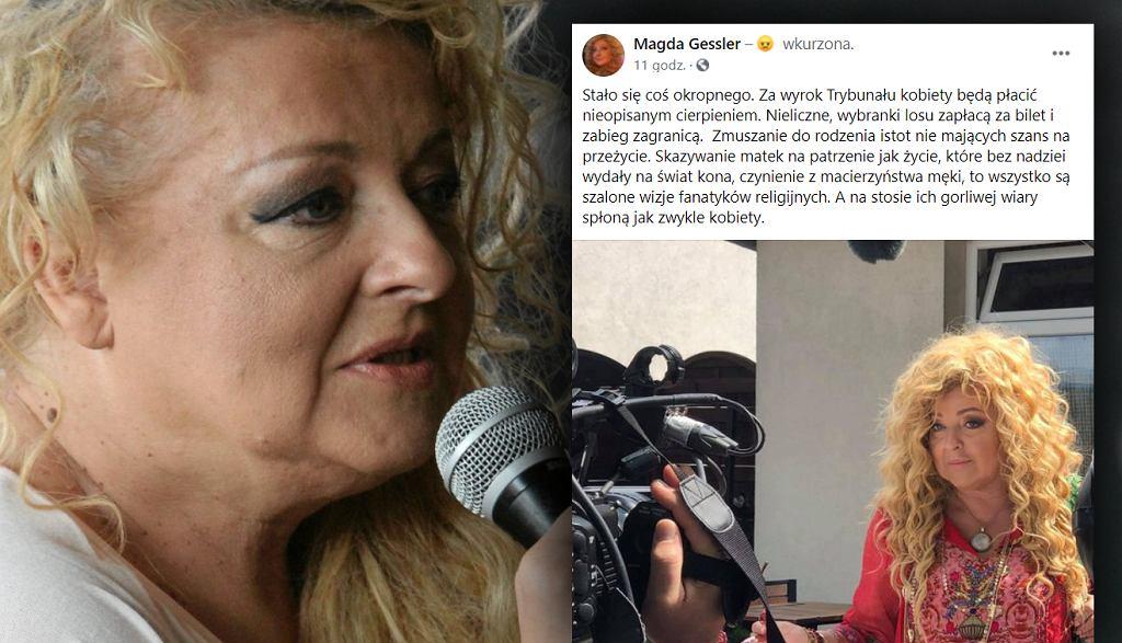 Magda Gessler w mocnych słowach o decyzji TK w sprawie aborcji