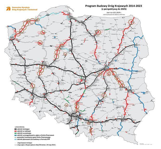 Plany Generalnej Dyrekcji Dróg Krajowych i Autostrad