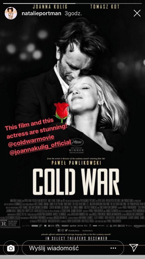 Natalie Portman zachwycona Joanną Kulig