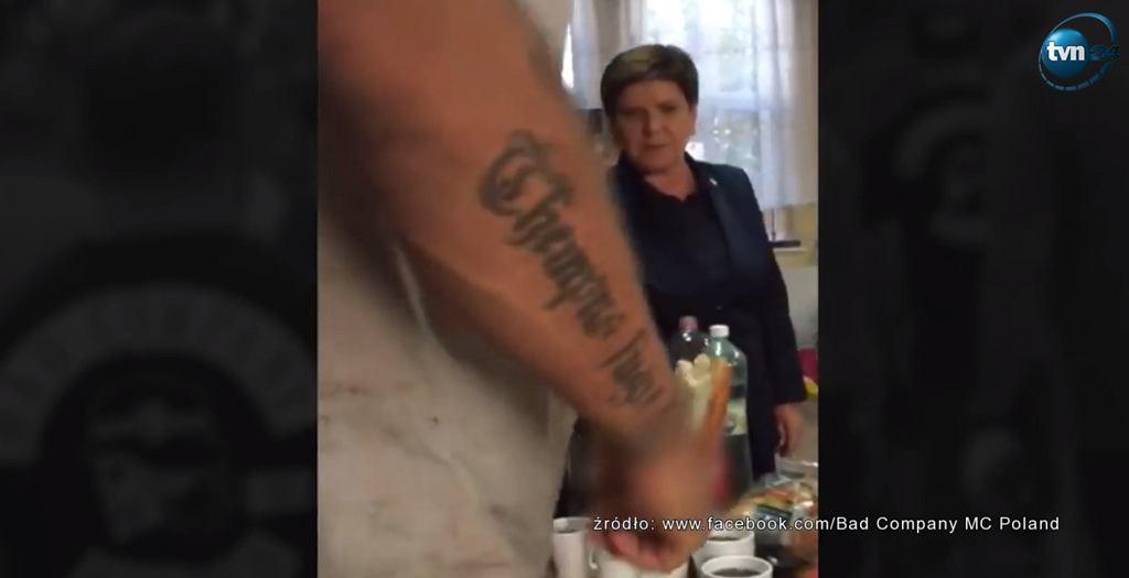 Kadr z nagrania pokazanego w programie 'Superwizjer'