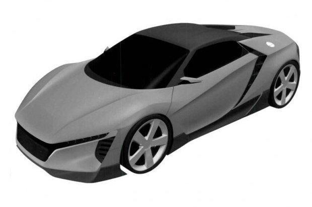 Szkice nowego sportowego modelu Hondy