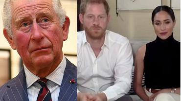 książę Karol, książę Harry, Meghan Markle