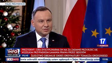 Andrzej Duda w TVP Info
