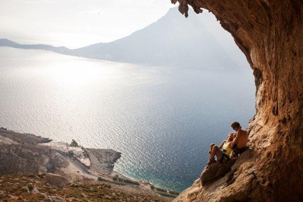 Wspinaczka na Klymnos, Grecja