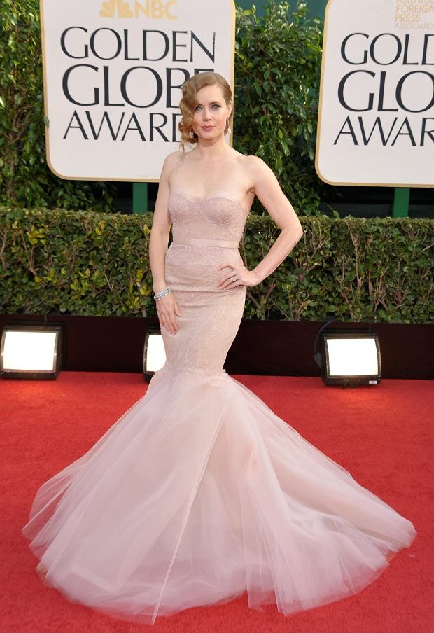 Amy Adams arrives at the 70th Annual Golden Globe Awards at the Beverly Hilton Hotel on Sunday Jan. 13, 2013, in Beverly Hills, Calif. (Photo by John Shearer/Invision/AP)