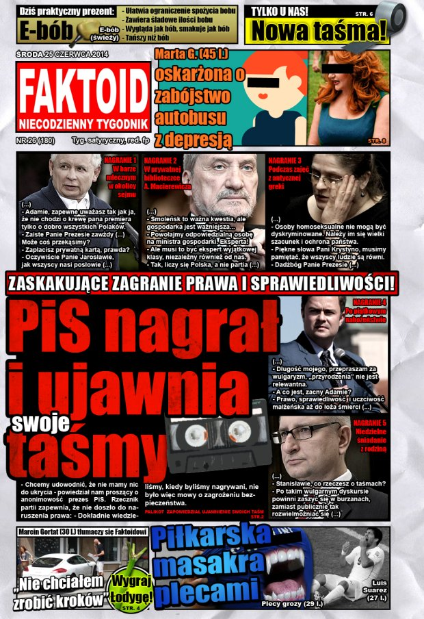 Faktoid, 25 czerwca 2014, nr 26 (180) -  - Gazeta.pl