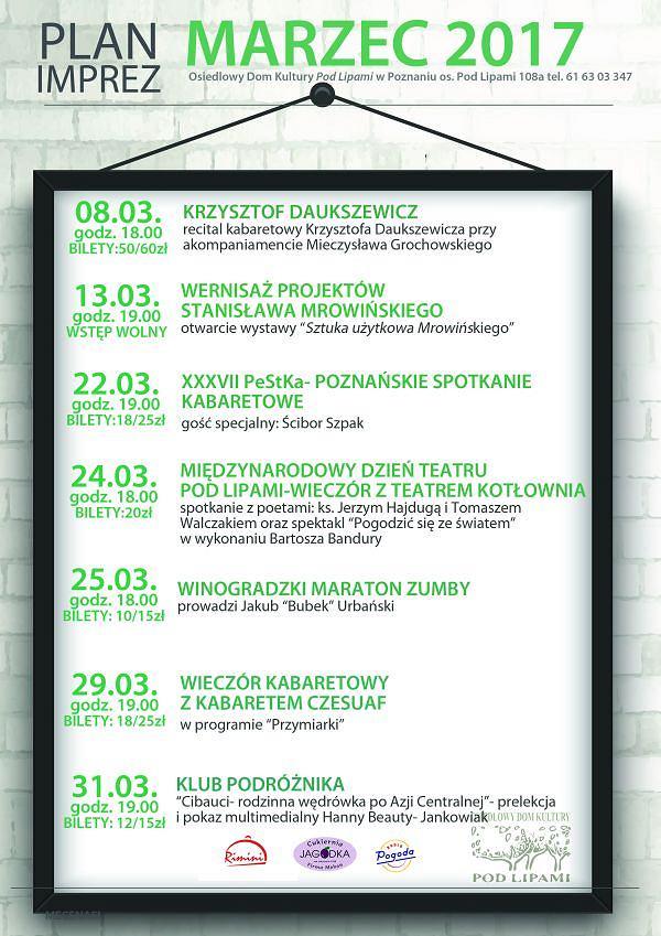 Marzec w Domu Kultury Pod Lipami w Poznaniu / DK Pod Lipami