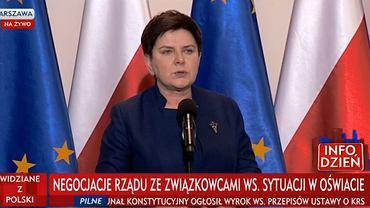 Beata Szydło o negocjacjach ze związkowcami