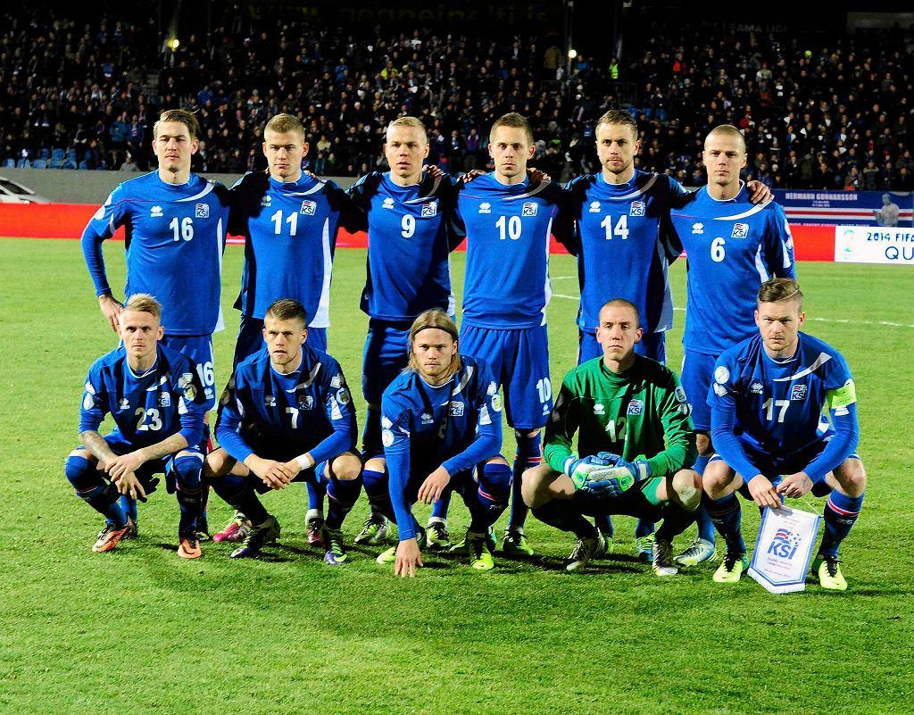 Skład Islandii przed meczem z Chorwacją w Reykjaviku