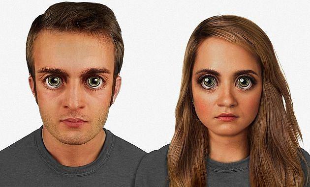 Typowe ludzkie twarze po 100 tys. lat