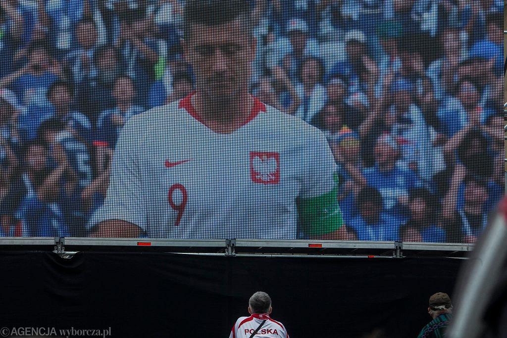 Strefa kibica pod Halą Stulecia podczas meczu Polska - Japonia