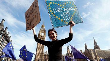 Czy nie byłoby Brexitu, gdyby Wielka Brytania była bardziej opiekuńcza, mniej wolnorynkowa? Na zdjęciu - protest przeciwników Brexitu
