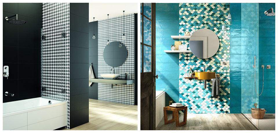 Pomysły na połączenie różnych rodzajów płytek w łazienkach