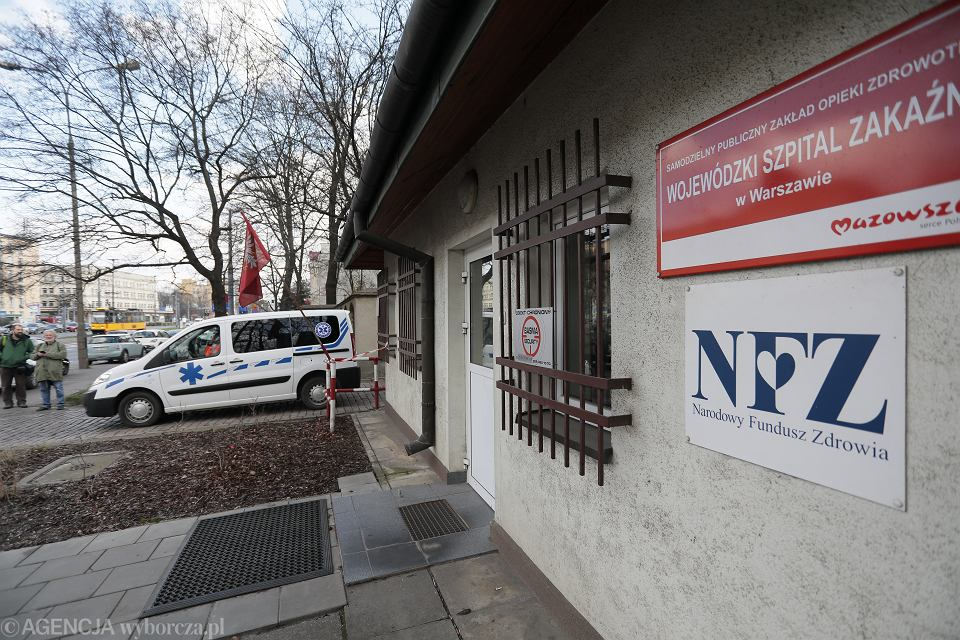 Epidemia Koronawirusa. Szpital zakaźny przy ul. Wolskiej w Warszawie, 9 marca 2020