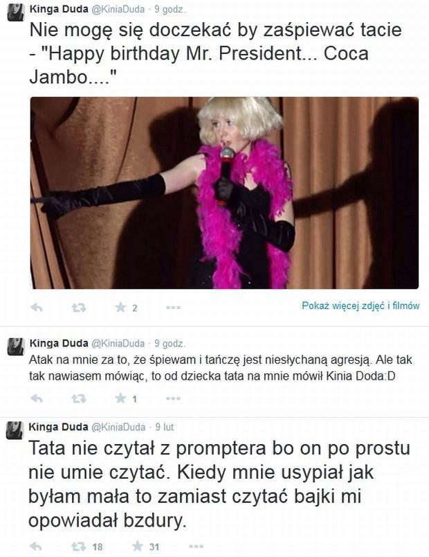 Domniemane konto na Twitterze córki Andrzeja Dudy