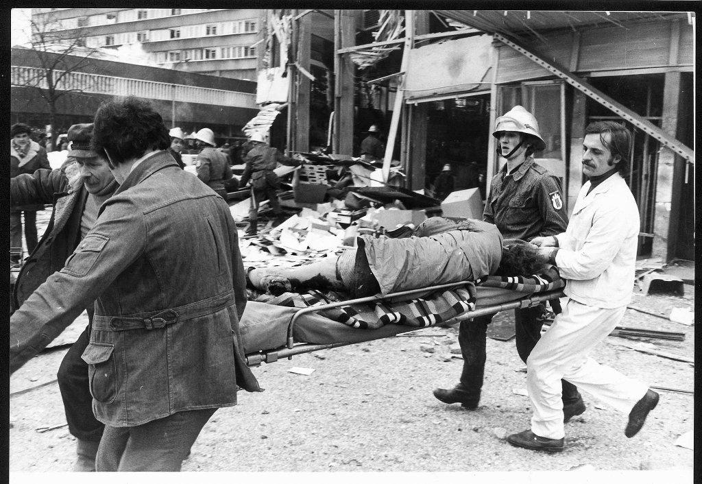 Akcja ratunkowa po wybuchu w Rotundzie