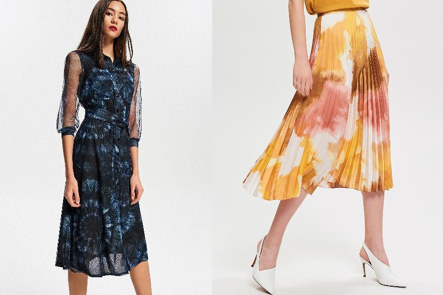 sukienka i spódnica tie dye