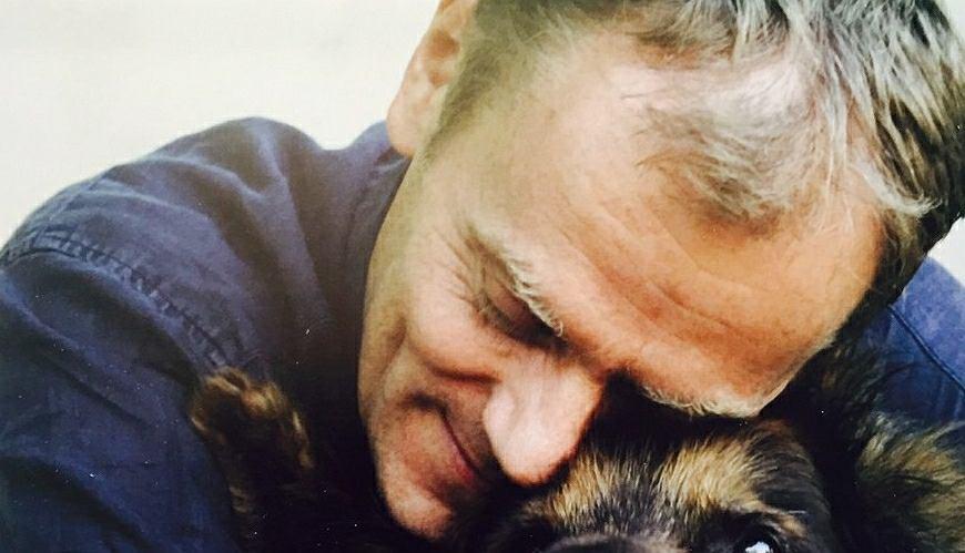 Donald Tusk z psem