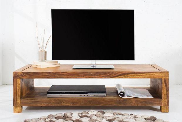 Drewniana, minimalistyczna szafka RTV