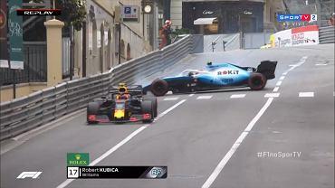 F1. Robert Kubica na treningu przed GP Monaco