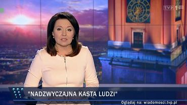 """Danuta Holecka, prowadząca niedzielne wydanie """"Wiadomości"""""""