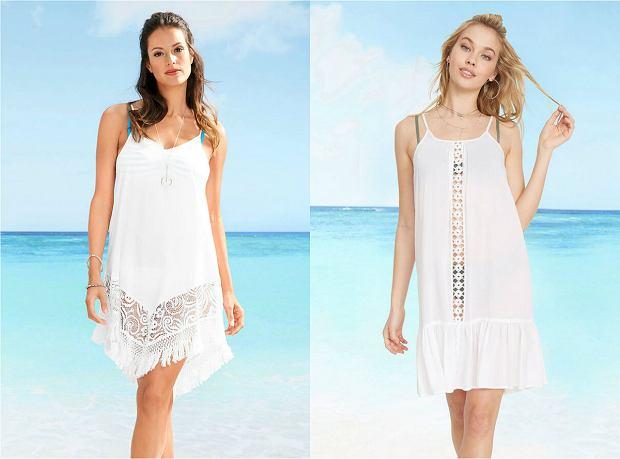 Zwiewne sukienki plażowe białe