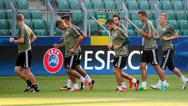 Zawodnicy Legii na treningu przed meczem przeciwko Borussii Dortmund w Lidze Mistrzów