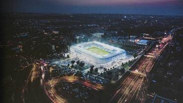 Wizualizacja nowego stadionu Ruchu Chorzów