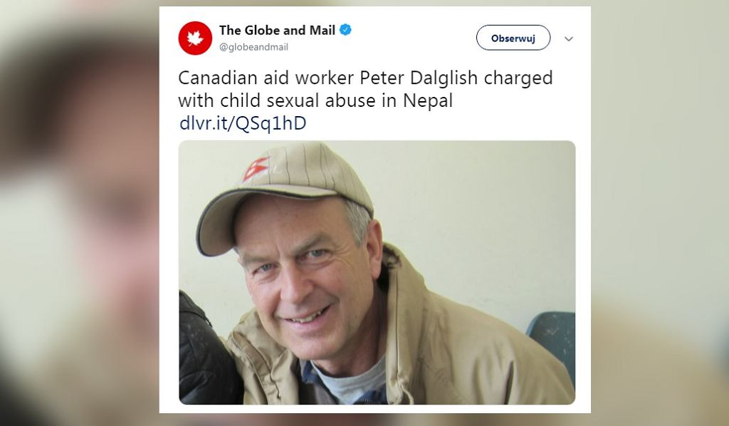 Były pracownik ONZ Peter Dalglish uznany za winnego molestowania dzieci.