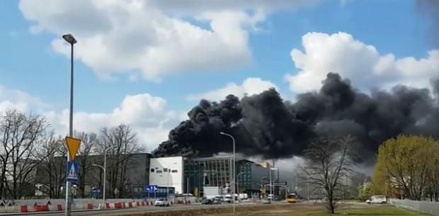 Pożar w Galerii Północnej.