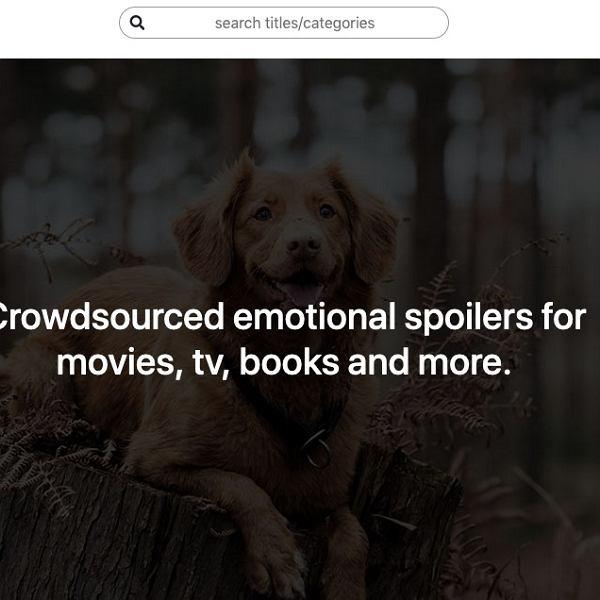 Ta strona ostrzeże cię przed tym, czego nie chcesz widzieć w filmach