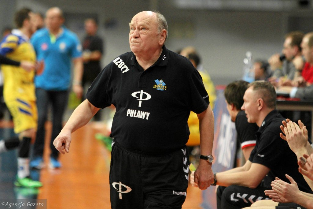 Mecz Azoty Puławy - Vive Tauron Kielce. Trener Azotów Ryszard Skutnik