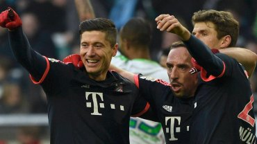 Robert Lewandowski, Franck Ribery i Thomas Mueller