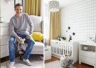 Marcin Mroczek pokazuje pokój syna