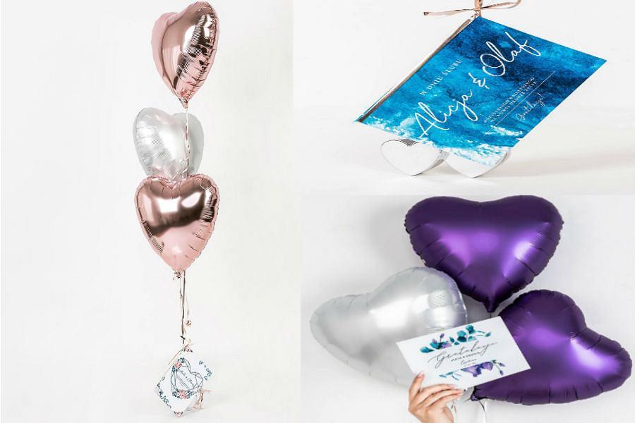 Zestaw balonów na ślub