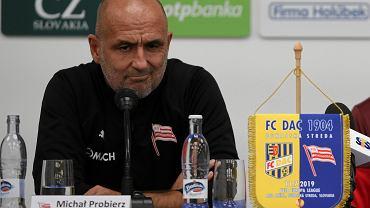 Dunajska Streda. Konferencja prasowa przed meczem w eliminacjach Ligi Europy.