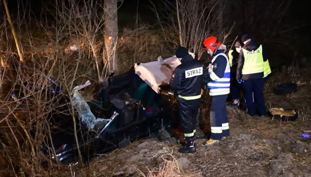 Wypadek w Janowie