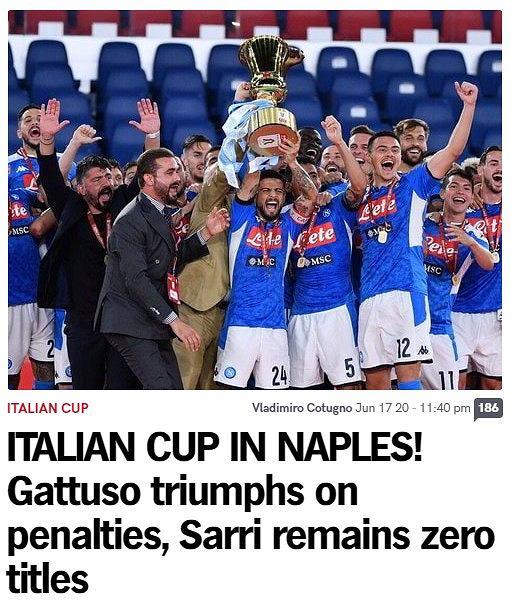 Reakcje włoskich mediów po finale Pucharu Włoch