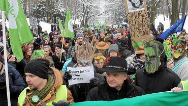 Marsz w obronie Puszczy Białowieskiej, Włodzimierz Cimoszewicz (fot. Przemek Wierzchowski)