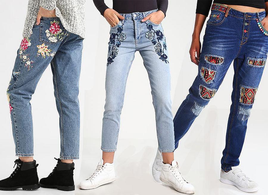 Haftowane jeansy zobacz stylizacje z najmodniejszymi