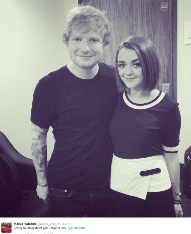 Maisie Williams i Ed Sheeran